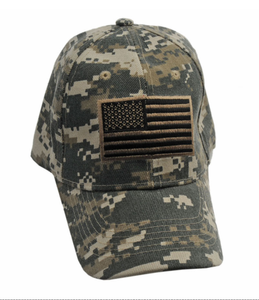Baseball Cap | Digital Camo Army Green American Flag U.S. Hat Gift Cap-610Dc