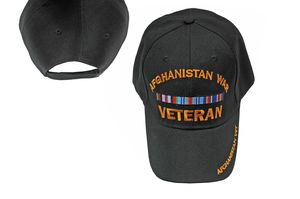 Baseball Cap | Black Embroidered 'Afghanistan War Veteran' - One Size Fits All