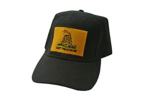 Don't Tread On Me' Gadsden Black Baseball Cap Hat - One Size Fits All