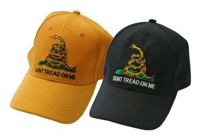 Black 'Don'T Tread On Me' Gadsden Baseball Cap Hat - One Size Fits All