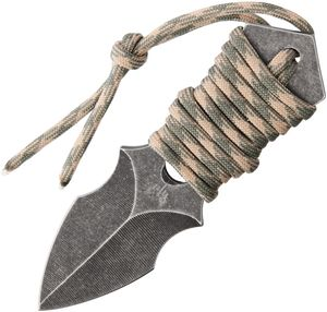 Neck Knife | Combat Ready Tactical Mini Dagger Full Tang with Slim Sheath