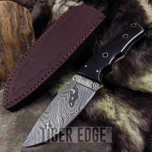 Fixed-Blade Hunting Knife | Damascus Steel 8