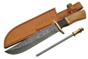 Damascus Steel Bowie Knife | 14.5