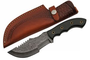 Damascus Steel Hunting Knife | 9.75