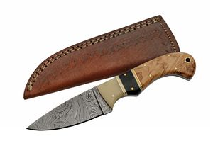 Damascus Steel Hunting Knife | 3.5