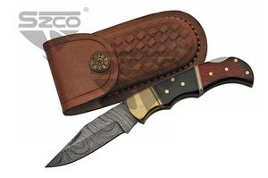 Pocket Folding Knife | Damascus 6.75