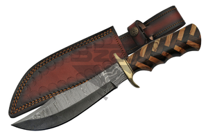 Damascus Steel Fixed Blade Knife | 11