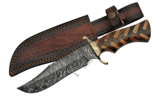 Damascus Steel Fixed Blade Knife | 12