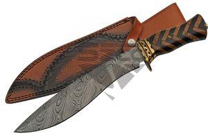 Kukri Knife | Damascus Steel Gurkha Blade 14.75