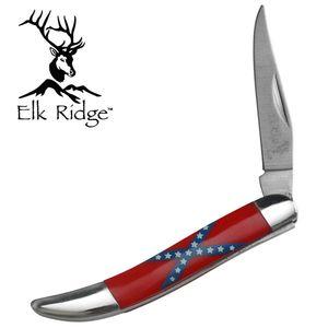 Elk Ridge Confederate Dixie Flag Texas Toothpick Folding Knife