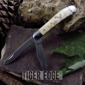 Folding Pocket Knife | Elk Ridge 2 Blade Ox Bone Deer Hunter