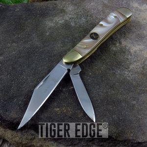 Elk Ridge Pearl Dual Blade Trapper Knife
