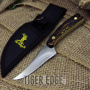Fixed Blade Knife Elk Ridge Hunting Skinning Game Simulated Bone Handle  Er-299I