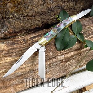Elk Ridge Abalone 3-Blade Folding Pocket Pen Knife