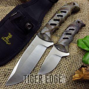 Elk Ridge 2-Pc. Camo Fixed-Blade Hunting Skinning Knife Set w/ Sheath