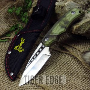 Elk Ridge Thick Brown Camo Fixed Blade Survival Hunting Knife Survival Gift