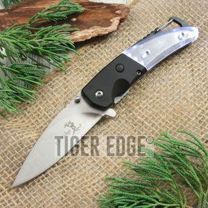 Spring-Assist Folding Knife | Elk Ridge Black Led Light Carabiner Bottle Opener