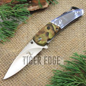 Spring-Assist Folding Knife | Elk Ridge Camo Led Light Carabiner Bottle Opener
