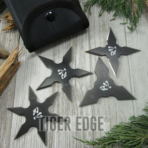 THROWING STAR SET Perfect Point Ninja Shuriken 3-Piece Practice Stars FM-431-4CS