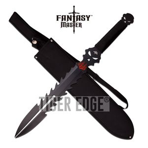 Short Sword Fantasy Master Black Ninja Fixed Blade Medieval Sheath Full Fm-671