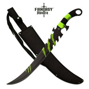Fantasy Sword | Green + Black Zombie Killer Scimitar Blade With Sheath Fm-675G