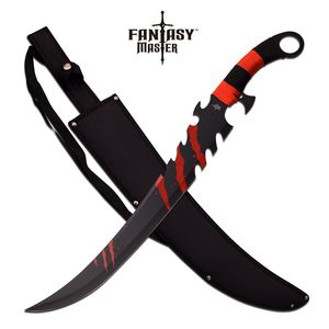 FANTASY SWORD | Red + Black Zombie Killer Scimitar Blade with Sheath FM-675R