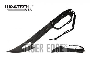 Machete | Wartech Black Gut Hook Blade Hand Guard Tactical Survival + Sheath