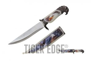 Bowie Knife | American Bald Eagle Dagger Silver 8