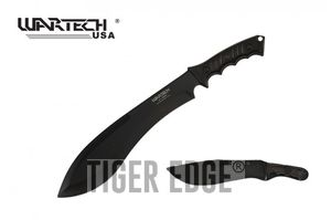 Tactical Kukri Knife | Wartech Machete Black Blade 18