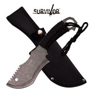 FIXED BLADE KNIFE Survivor Hunting Camping Fantasy Tactical Stonewash HK-790