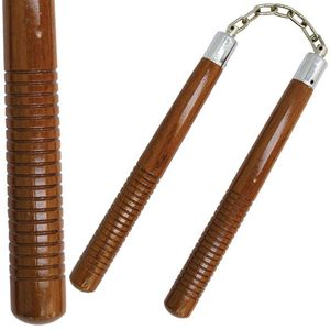 Nunchaku | Brown Hardwood Nunchuck Set 12
