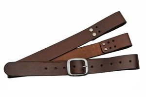 Adjustable Shoulder Belt Harness For Medieval/Samurai Swords - Brown Leather