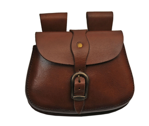Medieval Belt Bag | Genuine Leather Box Brown Black Buckle Sporran Pouch Hs-4420
