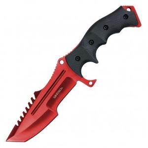 Fixed Blade Tactical Knife | Wartech Red Black Hunting Blade W/ Sheath Hwt202Rd