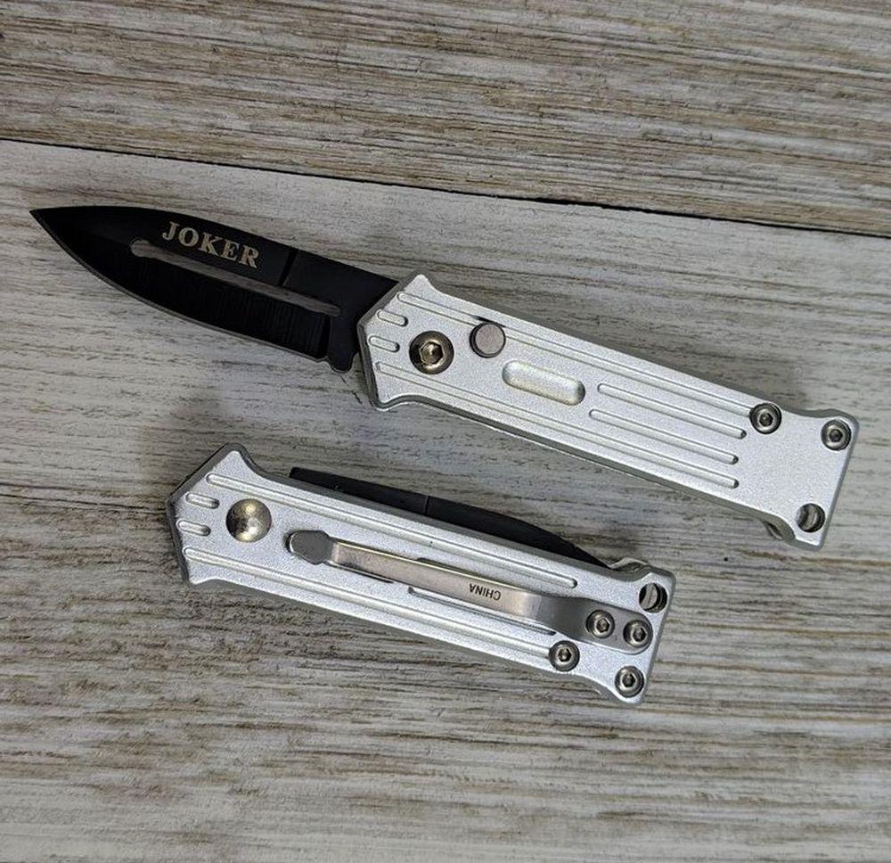 Mini Automatic Folding Pocket Knife   Joker Push-Button 2.75