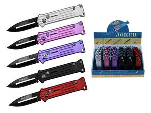 Mini Automatic Folding Pocket Knife Set 24 Piece Joker Push-Button 2.75