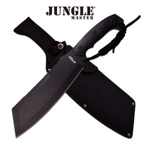 Short Machete Jungle Master Black Survival Hunting Fixed Blade Full Tang Jm-034