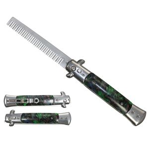 Push Button Folding | Novelty Comb Automatic Green Switchblade Gift NO BLADE