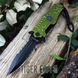 Usmc Marines Green Dagger Spring Assisted Tactical Combat Folding Knife