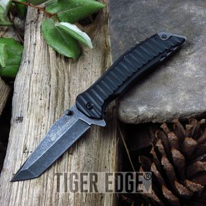 Mtech Usmc Marines Black Tanto Tactical Spring Assisted Folding Knife