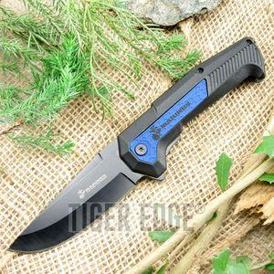 Spring Assisted Folding Pocket Knife | Mtech Usmc Marines Black Blue Tactical