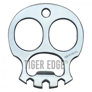 Wartech Skull Knuckle Punch Keychain Bottle Opener 2.5