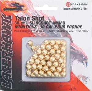 Slingshot Ammo | Laserhawk .30 Cal Plated Steel Shot - 150 Count