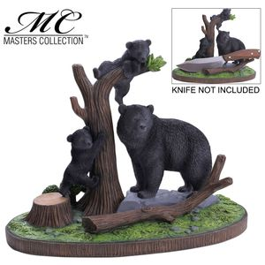 Knife Display Stand | Wilderness Black Bear W/ Cubs - 11
