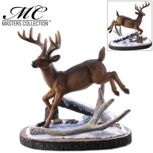 Knife Display Stand | Wilderness Deer Buck Stag Snow - 11