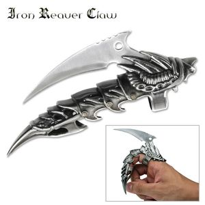 Finger Knife | Silver Blade Cast Metal Armor Demon Dragon Reaver Claw Mc-1026