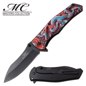 Spring-Assist Folding Knife | Chinese Dragon Fantasy 3.75