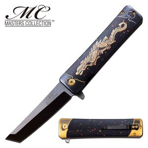 Spring-Assist Folding Pocket Knife | Tanto Samurai Dragon Japanese MC-A061D