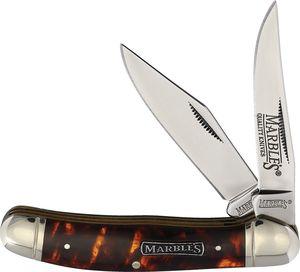 Folding Knife | Marbles Classic 2-Blade Barlow Copperhead Imitation Tortoise