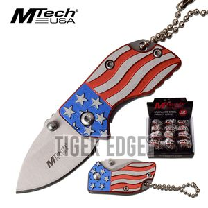 American Flag Folding Knife Keychain Pop Set Mini 1.4